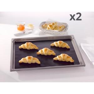 Lot de deux feuilles de cuisson anti-adhésive 40 cm