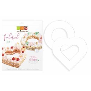 Kit Floral cake - Cœur et Couronne Scrapcooking
