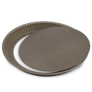 Tourtière cannelée fond amovible 28 cm Gobel