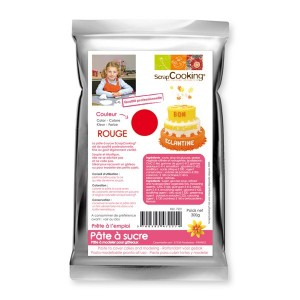 Pâte à sucre rouge 250 gr Scrapcooking