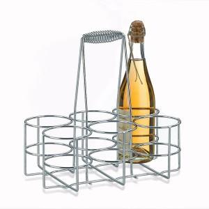 Porte-bouteilles chromé Loop