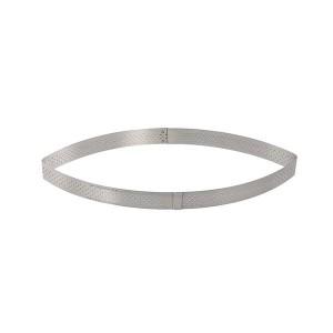 Cercle perforé à tarte et calisson Valrhona 40 cl 25,5 cm inox De Buyer