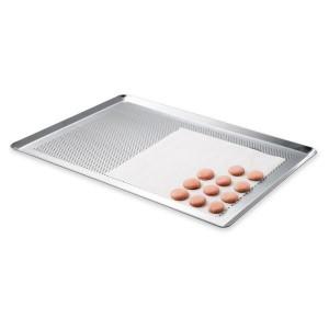 Plaque à pâtisserie micro-perforée professionnelle en aluminium 40 cm Mathon
