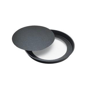 Tourtière ronde bords lisses fond amovible antiadhésif 24 cm Gobel