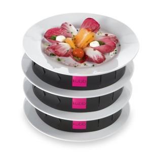 Coffret 3 bandes de superposition d'assiettes KUBB