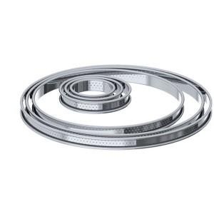 Cercle à tartelette inox perforé 8 cm De Buyer