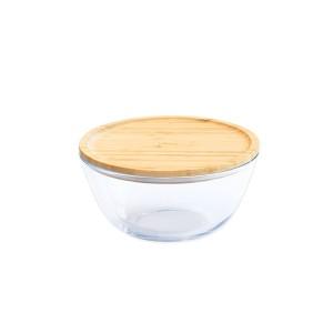 Bol à mixer rond couvercle bambou 1.6L Pebbly