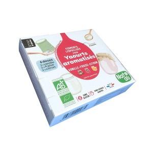 Préparation en poudre pour yaourts aromatisés Vanille   Fraise   Citron