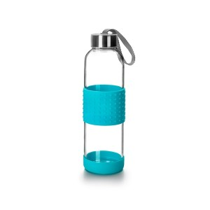 Bouteille bleu en verre 500 ml Ibili