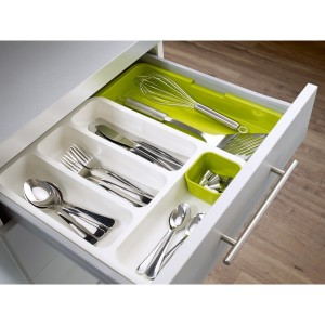 Range-couverts extensible 6 compartiments de 29 à 48 cm Drawer Store™ Joseph Joseph