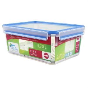 Boîte rectangle Clip & Close bleu avec égouttoir 3,7 L Emsa