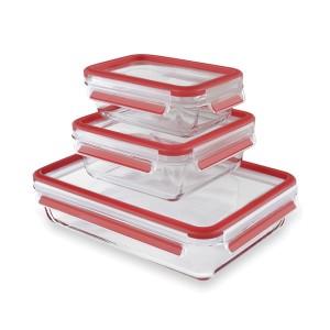 Set de 3 boîtes en verre Clip&Close 0,5 0,9 2 L Emsa