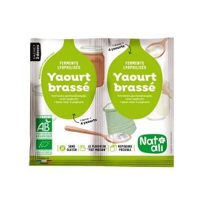 Préparation en poudre pour yaourt brassé