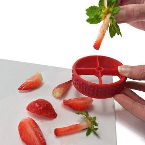 Équeuteur et coupe-fraises PushBerry