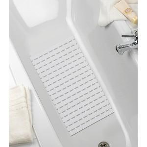 Tapis de baignoire blanc Arinos 63 cm
