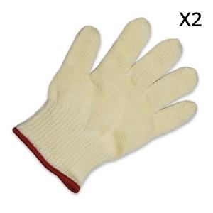 Lot de 2 gants de protection contre la chaleur taille S-M