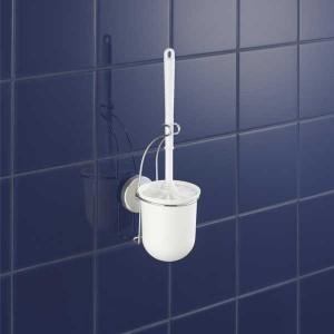 Support brosse pour toilettes Vacuum Loc