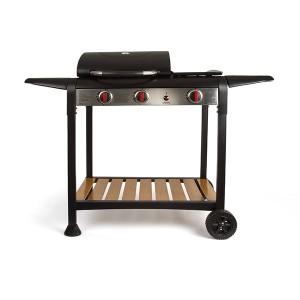Barbecue à gaz grille et plancha DOC208 Livoo