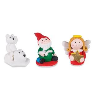 3 Pics déco thème Noël : Lutin, ange, ours blanc Patisse