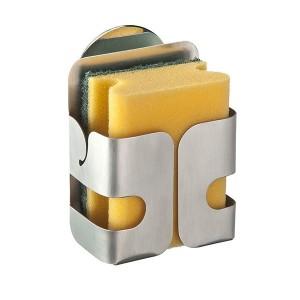 Porte-éponge adhésif en acier