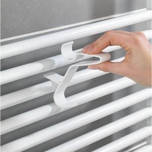 3 crochets de radiateur Flexi blanc