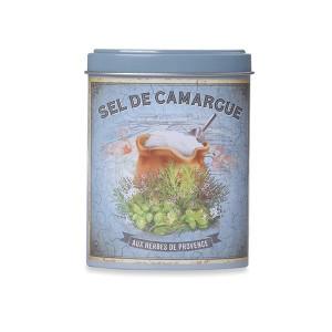 Sel de Camargue aux herbes de Provence avec boite verseuse en métal 120 g