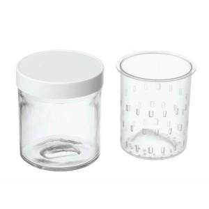 2 pots faisselles avec égouttoirs 250 ml YM402E Cuisinart