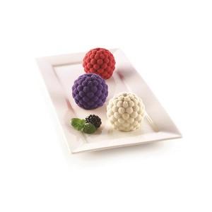 Moule silicone 3D 6 mini gâteaux fruits des bois Silikomart