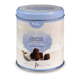 Truffes fantaisie au sel de Guérande - boîte métal - Boîte métal 250g