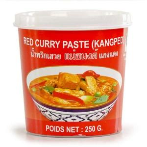 Pâte de curry rouge thaïe - Pot 250g