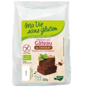 Préparation sans gluten pour gâteau au chocolat bio - Sachet 300g