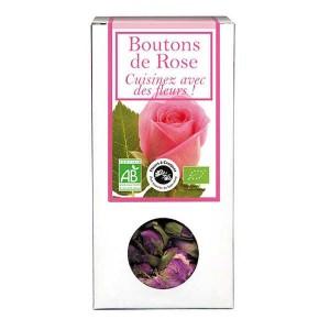 Boutons de rose bio - Fleurs à croquer - Boîte30gr