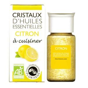 Citron - Cristaux d'huiles essentielles à cuisiner - Bio - Flacon 10g