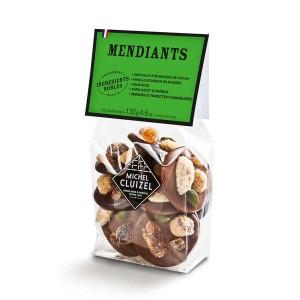 Mendiants chocolats noirs et laits Michel Cluizel - Poche 130g