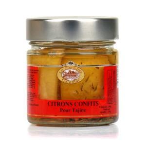Citrons confits au sel et aux épices pour tajine - Pot 210g, poids égoutté 120g