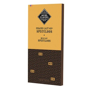 Tablette chocolat grand lait 45% et spéculoos - Tablette 100g