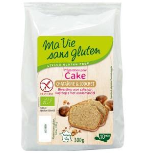 Préparation sans gluten pour cake à la chataigne et au souchet bio - Sachet 300g