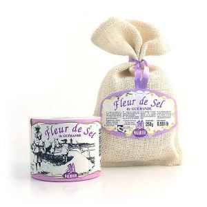 Fleur de sel de Guérande - Sachet toile de jute 250g