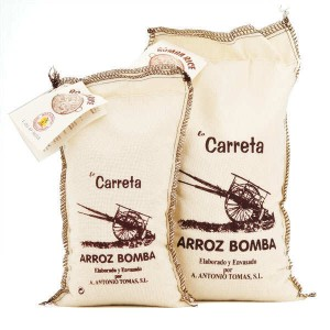 Riz extra Bomba AOP Arroz de Valencia - spécial paëlla - Sac tissu 500g