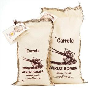 Riz extra Bomba AOP Arroz de Valencia - spécial paëlla - Sac tissu 1kg