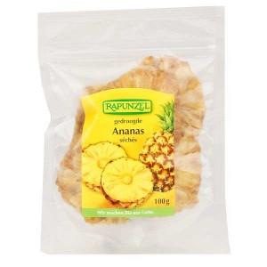 Rondelles d'ananas séchées bio - Sachet 100g
