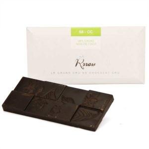 Tablette de chocolat cru (68%) et noix de coco bio - Tablette 45g