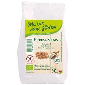 Farine de sarrasin bio - sans gluten - Sachet 500g