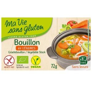 Bouillon de légumes bio et sans gluten - Boite 72g