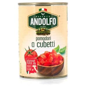 Tomates italiennes concassées - Pomodori a cubetti - Boite 400g