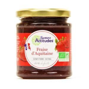 Confiture extra de fraises d'Aquitaine bio - Pot 220g