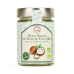 Huile vierge de noix de coco bio - Bocal 314ml