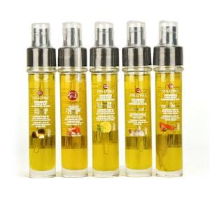 Recharge et vaporisateur huile d'olive italienne (plusieurs aromatisations) - Huile d'olive romarin genièvre - Flacon verre 30 ml