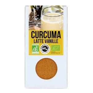 Curcuma Latte vanille bio - Préparation pour lait d'or - Boite 60g