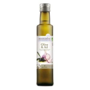 Huile d'olive et ail bio - Bouteille 25cl